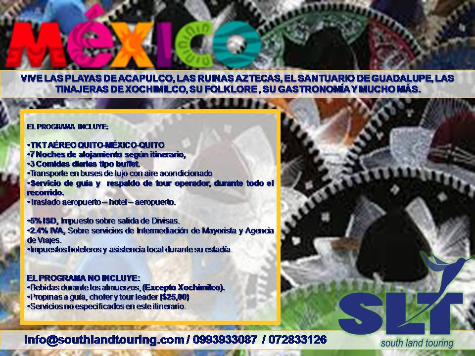 Mexico promo sombreros South Land Touring Ecuador