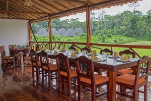 yasuni kichwa lodge south land touring ecuador dinning room